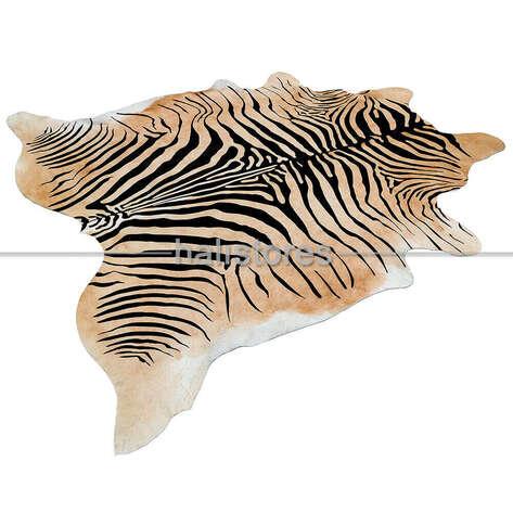 Liviadora - Zebra Kahve-Siyah Deri Halı 29433 (1)